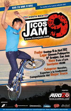 Afiche Promocional Ticos Jam 9