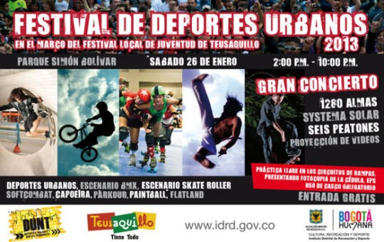 Festival de deportes urbanos en Bogotá