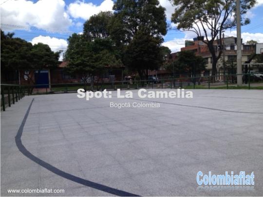 Pista de patinaje del barrio La Camelia en Bogotá