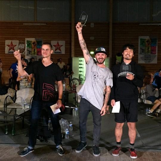 Royan FSU Flatland Contest Podium
