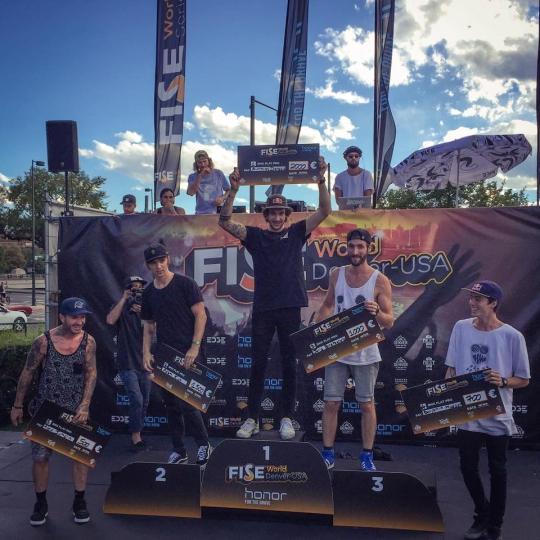 PODIUM FISE DENVER BMX FLATLAND 2016