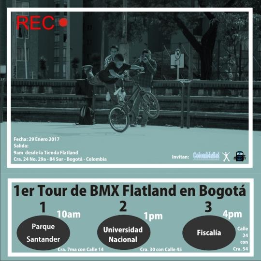 1er Tour de BMX Flatland en Bogotá