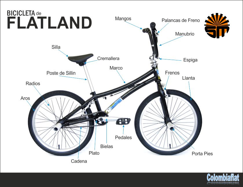 Bicicleta de Flatland - St Martin