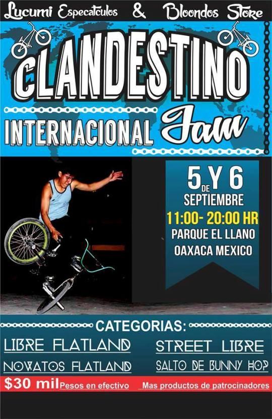 Competencia de BMX Flatland Clandestino Jam